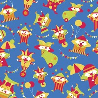 Illustrated clowns background design