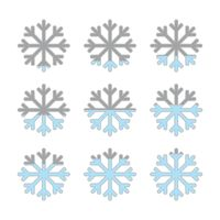 Popular : Infographic with snowflake elements