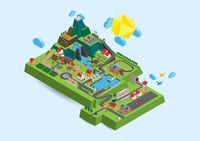 Isometric countryside