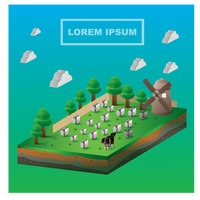 Isometric farm