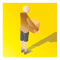 Popular : Isometric of a boy holding carton