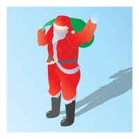 Popular : Isometric of a santa claus