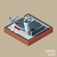 Isometric of airport