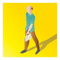 Popular : Isometric of an old man