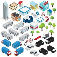 Isometric of city icons