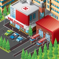 Isometric of fire station building