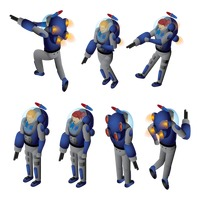 Popular : Isometric spacemen