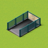 Isometric subway stairs