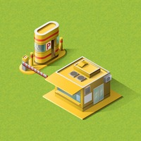 Isometric toll booth