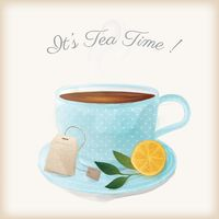 Its tea time with a cup of tea