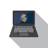 Popular : Laptop with dollar sign