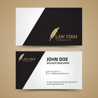Law firm business card layout