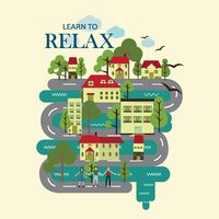 Learn to relax motivational quote