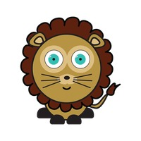 Popular : Lion on white background