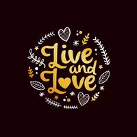Live and love typography design