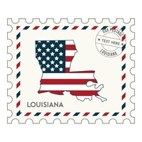 Louisiana postage stamp