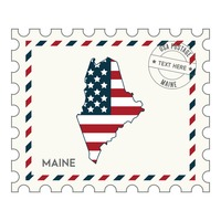 Maine postage stamp