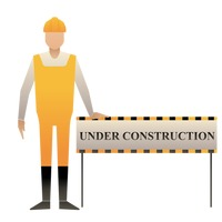 Popular : Man with under construction board