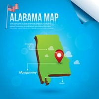 Map of alabama state