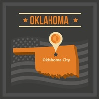 Map of oklahoma state