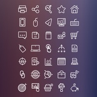 Marketing icons collection