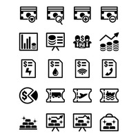 Money and billing icons