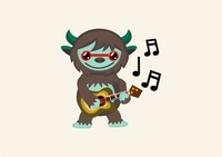 Monster playing a guitar
