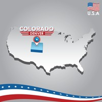 Popular : Navigation pointer indicating colorado on usa map
