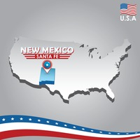 Popular : Navigation pointer indicating new mexico on usa map