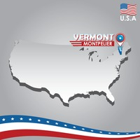 Popular : Navigation pointer indicating vermont on usa map