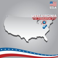 Popular : Navigation pointer indicating west virginia  on usa map