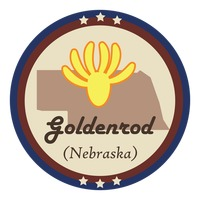 Nebraska state with goldenrod flower