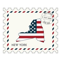 New york postage stamp