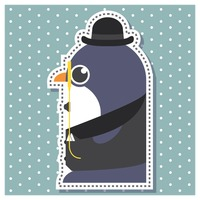 Penguin as a gentleman