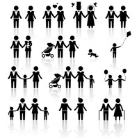 People and family set