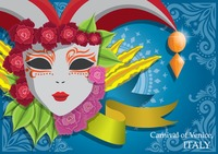 Poster of carnival mask