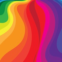 Rainbow flowing background