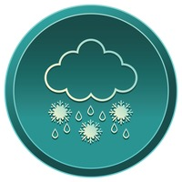 Popular : Raining cloud with snowflakes