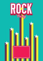 Rock party poster design