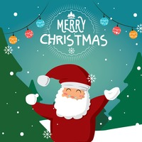 Santa claus christmas card design
