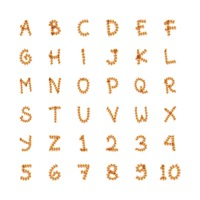 Set of alphabets and numbers