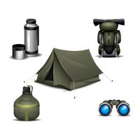 Set of camping equipment