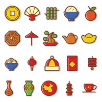 Popular : Set of chinese icons