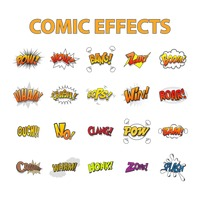 Set of comic effects