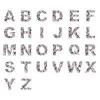 Set of decorative alphabets