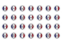 Set of france province icons