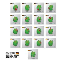 Popular : Set of germany states icons