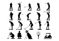 Popular : Set of golf icons