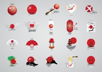 Set of japan tourism icons