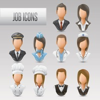 Set of job icons